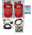 GAS IT TWIN 6kg Refillable Bottle Kit - 0.5m In Locker Fill